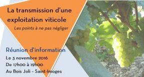 Réunion d'information - La transmission d'une exploitation viticole